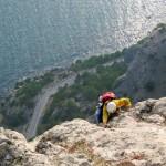 Гора Сокол в Новом Свете скалолаз