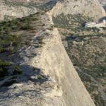Гора Сокол в Новом Свете обрыв