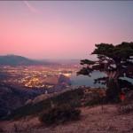 Гора Сокол вечером