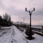 Набережная Судака зимой