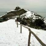 Тропа Голицына Капчик в снегу