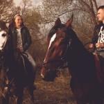 Фото вдвоем на лошадях