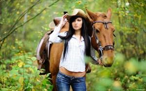Катание на лошадях в лесу Судак